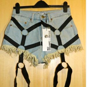 Nasty Gal Bitching & Junkfood harness shorts